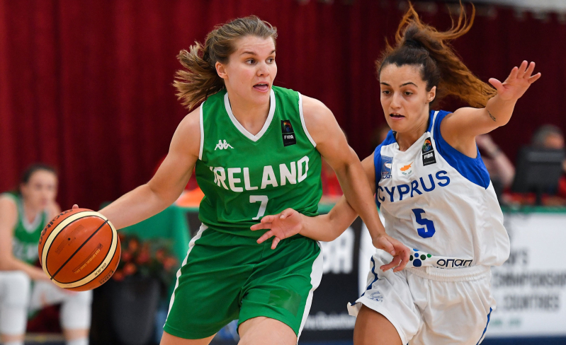 Basketball Ireland womans team in action