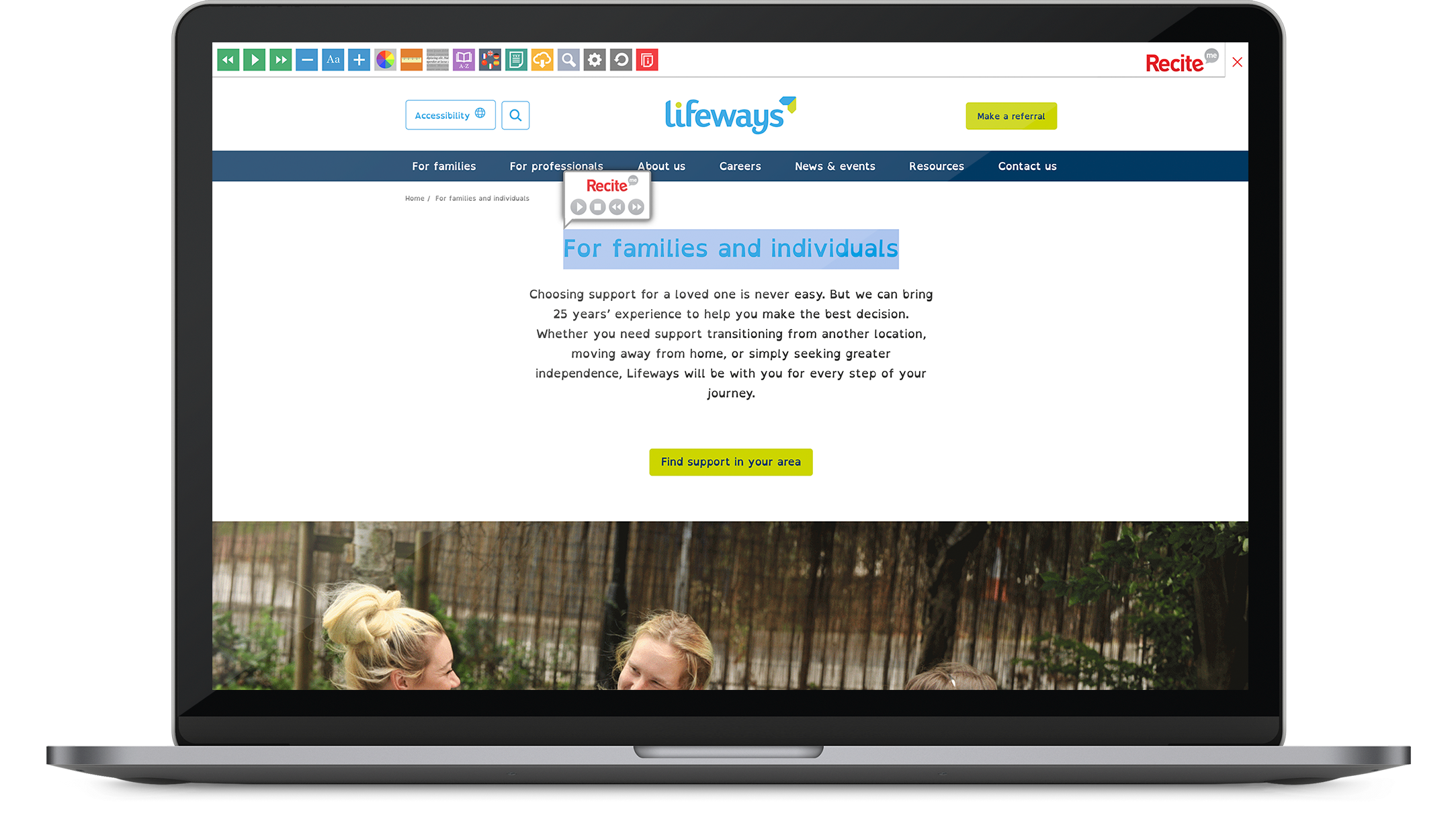 lifeways inclusive usable website