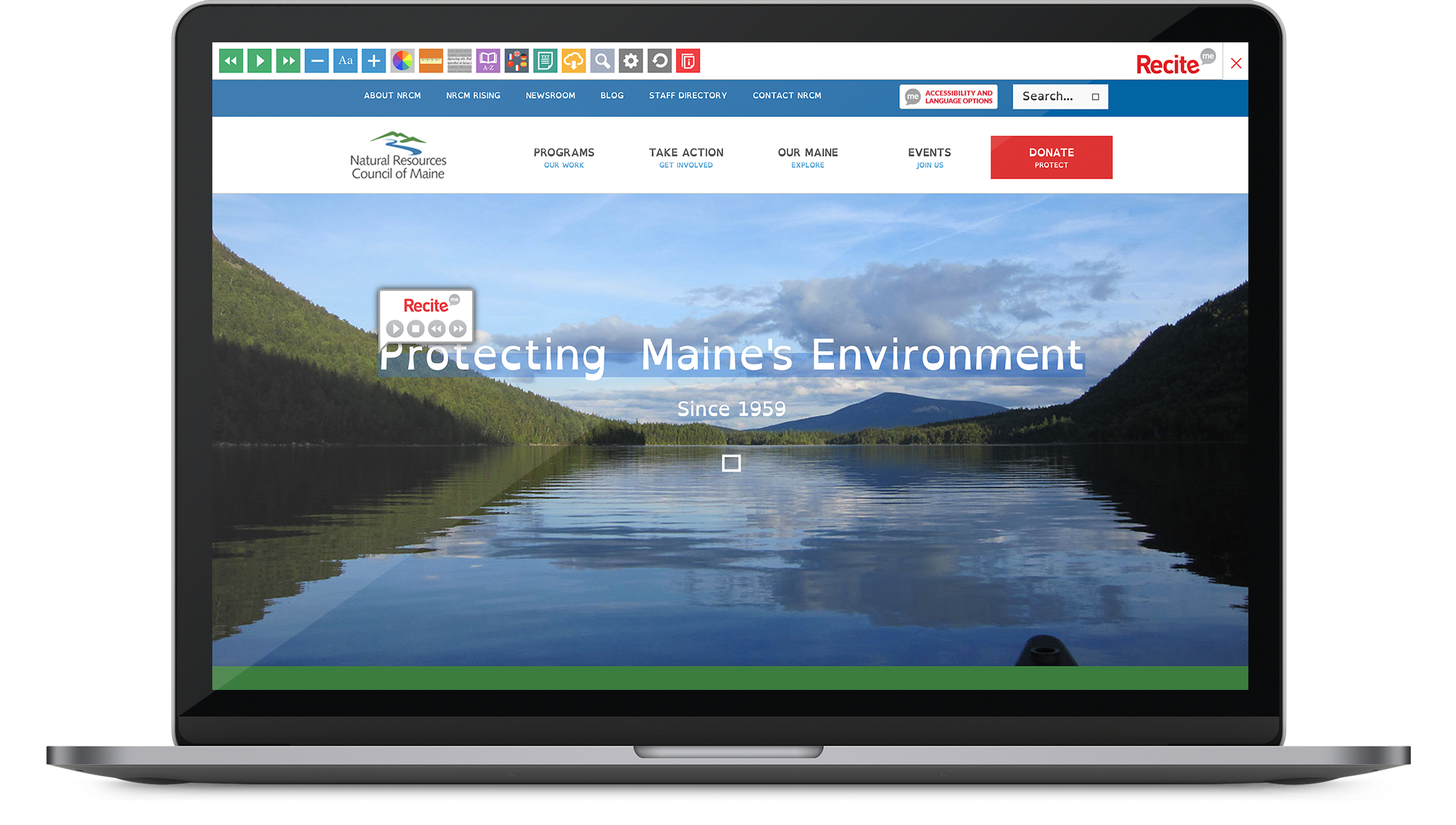 Natural Resources Council of Maine inclusive website