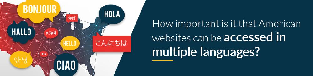 Us websites multiple languages
