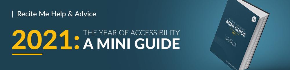 Recite Me 2021 accessibility guide